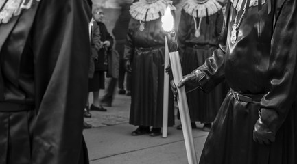 Religious scenes during Holy Week in Tarragona, Catalonia, Spain