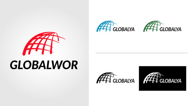 Global World Logo Template Set