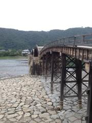 Kintaikyo Bridge over the River in Yamaguchi, Japan
