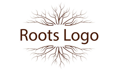 Logo with a pattern of tree roots