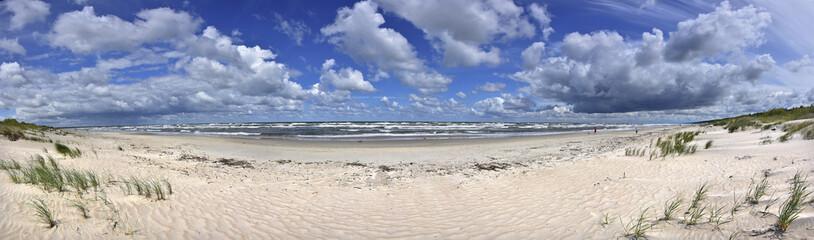 Panorama - Morze Bałtyckie - Plaża - mierzeja wiślana