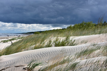 Wydma Morze Bałtyckie - Plaża - mierzeja wiślana