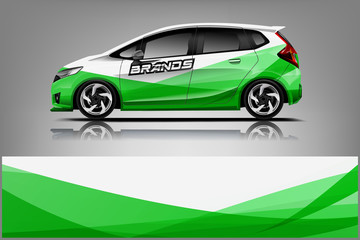 Fototapete - Rally car wrap vector designs. abstract livery for vehicle vinyl branding background