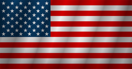Flag american background. Flag usa isolated. Vector