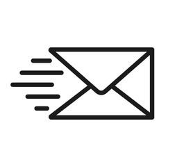 Obraz Send message icon on white background. Vector - fototapety do salonu