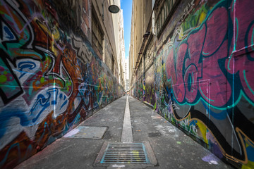 Foto auf AluDibond Graffiti street art in melbourne