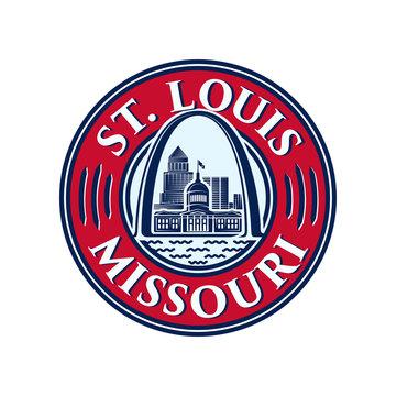 St. Louis logo. Saint Louis design template. Vector and illustrations.