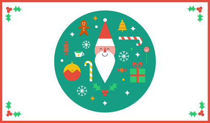 Christmas Card Flat Design