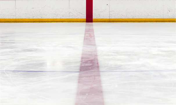 The center red line in a hockey rink.
