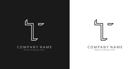 Fototapeta t logo letter design obraz