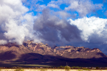 Storm clouds over Chiricahua Mountains, one of Arizona's famous Sky Islands, near the town of Portal
