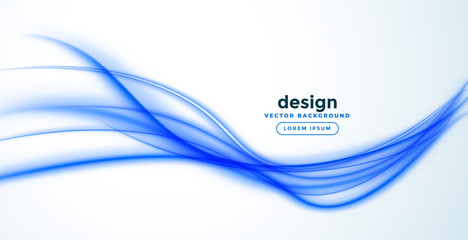 abstract blue line wave banner design