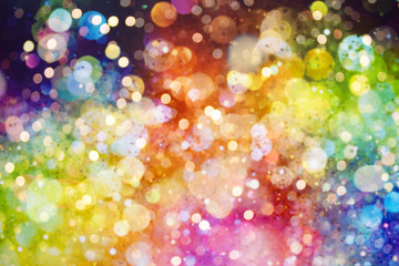 Wall Mural - Abstract blurred colorful bokeh background