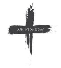 The Black cross of ash wednesday