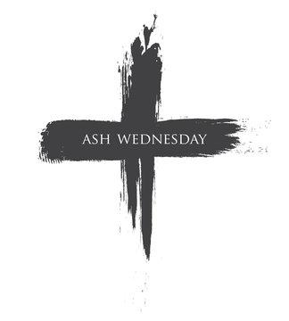 The Black cross of ash wednesday