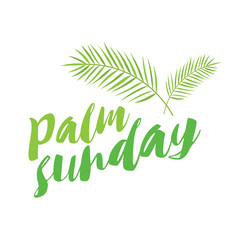 palm sunday title with palms