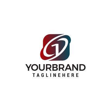 Number 1 logo design concept template vector