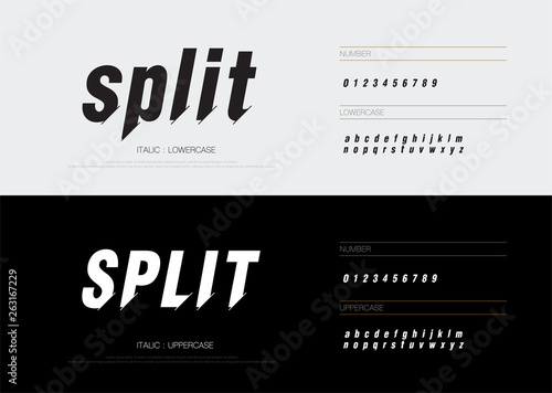 Sport technology alphabet letters font set  Modern lettering designs