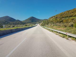 tunnel in egnatia street in highway between Ioaannina perfecture and Igoumenitsa Greece