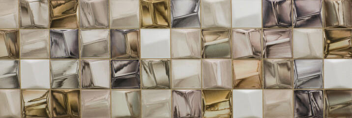 ceramic tiles with moroccan abstract mosaic pattern