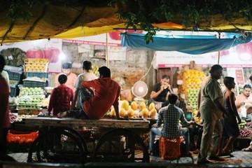 Night market in Delhi India
