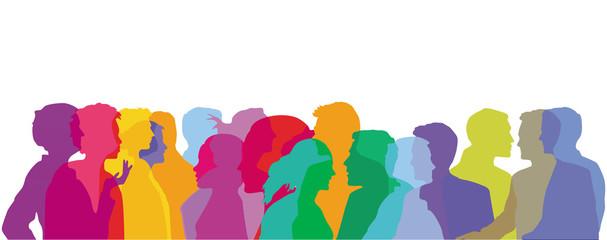 Menschen Gruppen Farben