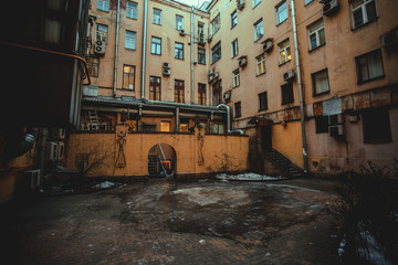 the old courtyards of the streets