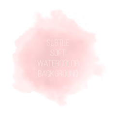 Soft pink powder color watercolor background.