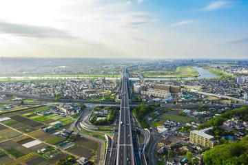都市と交通 空撮