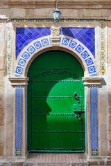 Fancy Green Door in Essaouira Morocco