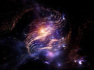 Swirl of Fractal Galaxy Fototapete