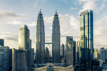 Fotomurales - Creative Kuala Lumpur city background