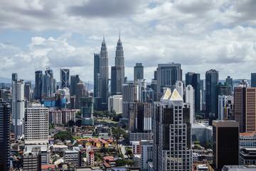 Fototapete - Creative Kuala Lumpur city backdrop
