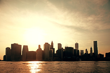 Wall Mural - Sunset New York skyline