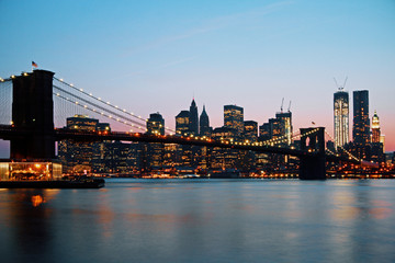 Wall Mural - Dusk New York skyline