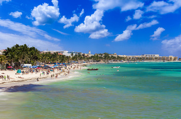 Beach on Playa del Carmen, Mexico