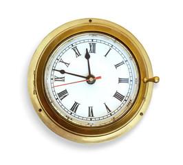 Old vintage ship's clock.