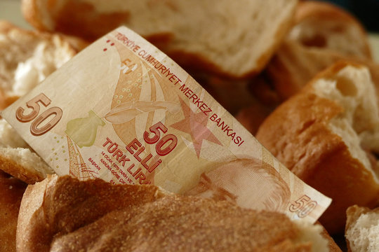 a waste of bread leads to property damage, bread waste in the world, stale bread and over 50 Turkish banknotes,