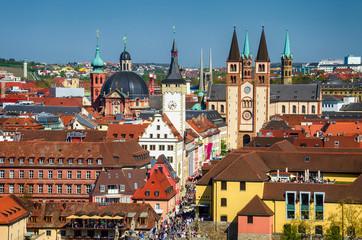 Würzburg Altstadt, mit Dom und Rathaus, Franken, Bayern