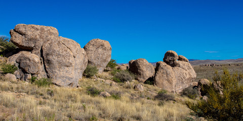 Massive boulders characterize City of Rocks State Park in southern New Mexico