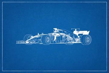 Foto op Aluminium F1 Projeto de F1.