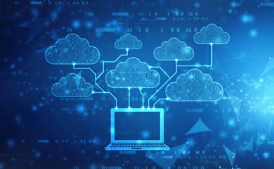 2d rendering Cloud computing, Cloud Computing Concept, Cloud computing technology internet concept background
