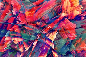 Fotobehang Paradijsvogel Abstract Energy Background. Illustration Energy Background.