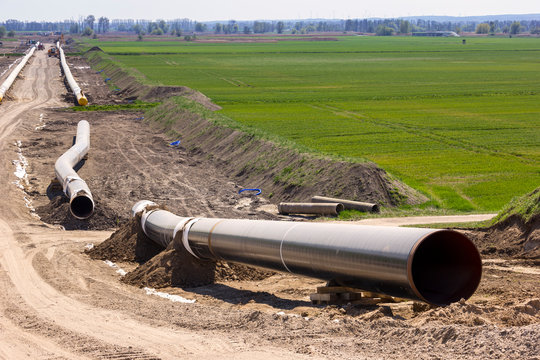 The route of the new natural gas pipeline runs through the state of Brandenburg.