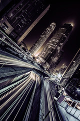 Fototapete - Business district in Hong Kong