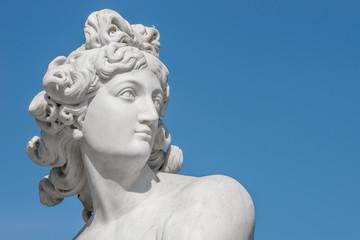 Ancient statue of sensual Italian renaissance rococo era a hunter in Potsdam, Germany