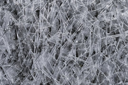 Ice crystals, Southern Region, Iceland, Europe