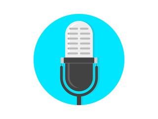 Retro microphone Illustration Vector Icon