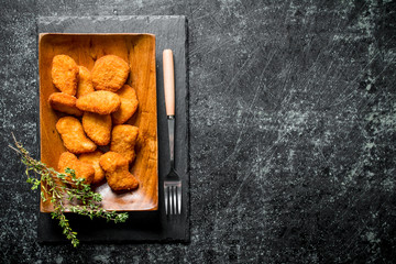 Chicken nuggets with thyme . Wall mural