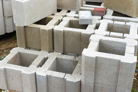 Warehouse cinder block and products from cement slurry for construction